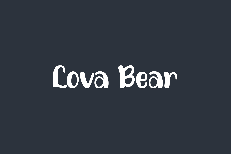 Lova Bear Free Font
