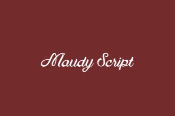 Maudy Script Free Font