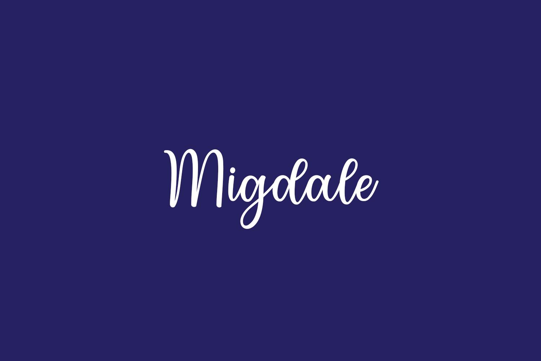 Migdale Free Font