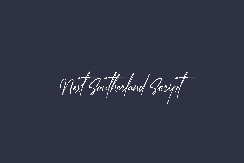 Next Southerland Script Free Font
