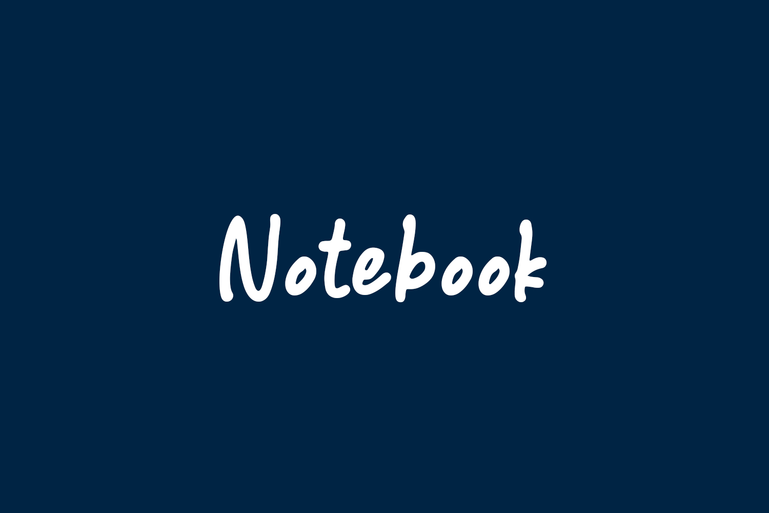 Notebook Free Font