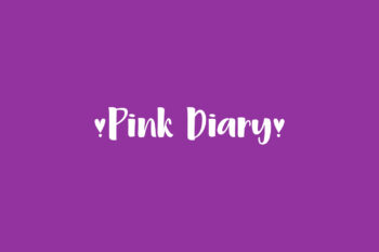 Pink Diary Free Font