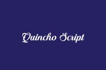 Quincho Script Free Font