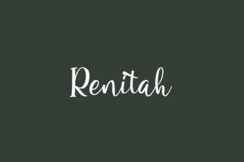 Renitah Free Font