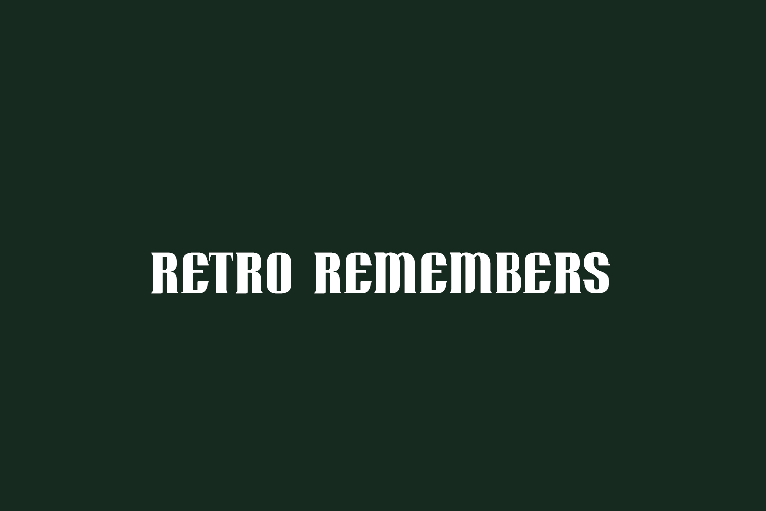 Retro Remembers Free Font