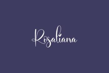 Rosaliana Free Font