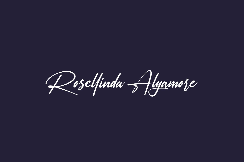 Rosellinda Alyamore Free Font