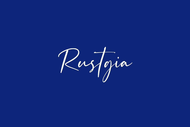 Rustgia Free Font