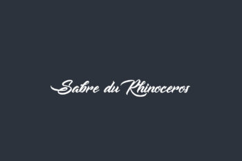 Sabre du Rhinoceros Free Font