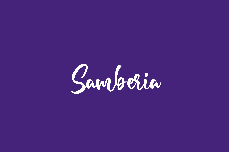 Samberia Free Font