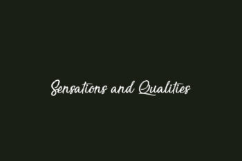 Sensations and Qualities Free Font