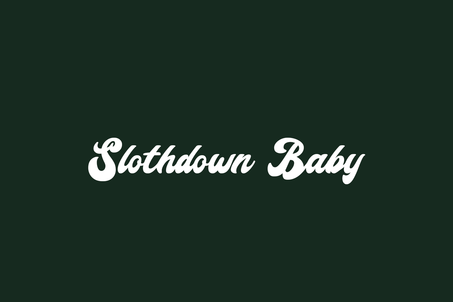 Slothdown Baby Free Font