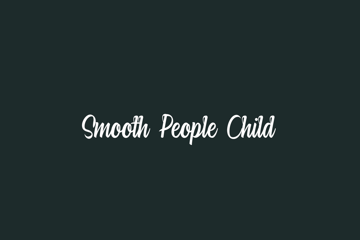 Smooth People Child Free Font
