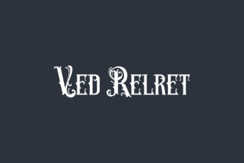 Ved Relret Free Font