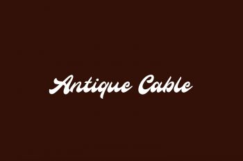 Antique Cable Free Font