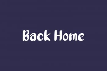 Back Home Free Font