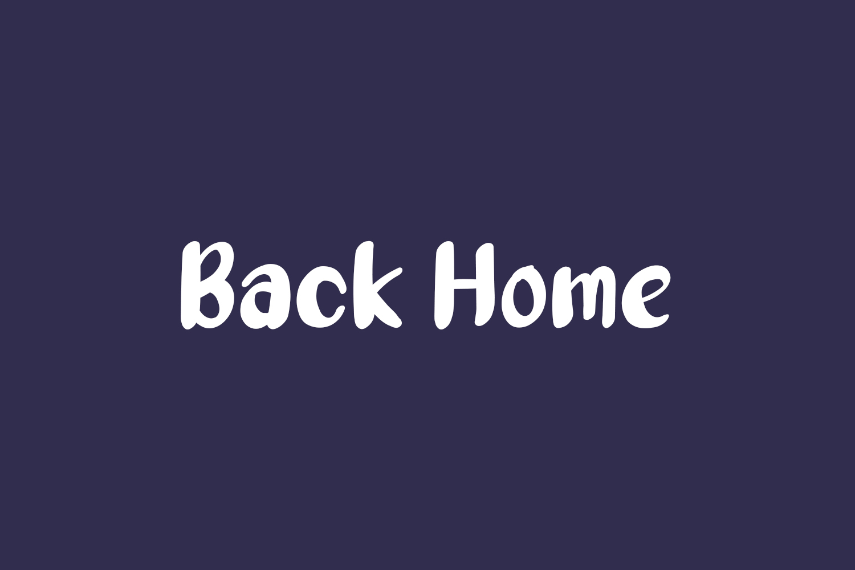 Back Home Free Font