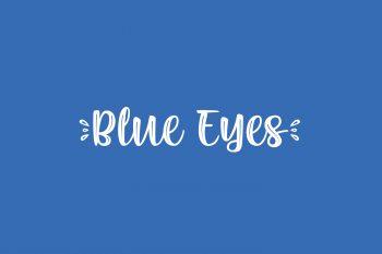 Blue Eyes Free Font