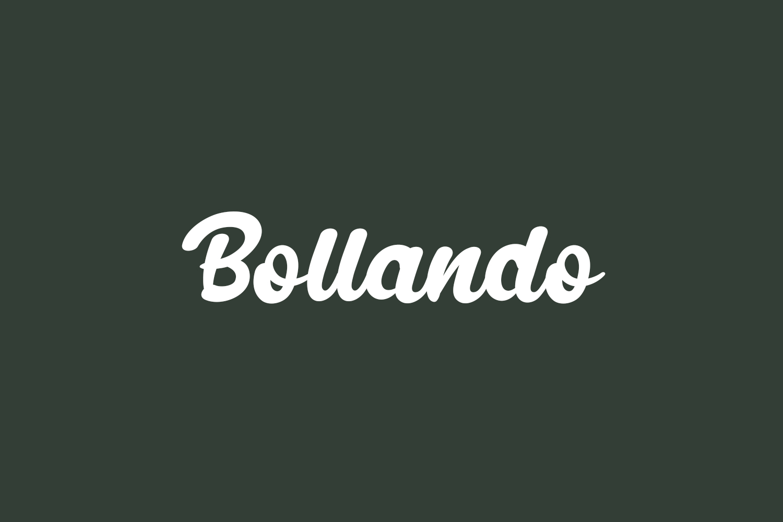 Bollando Free Font