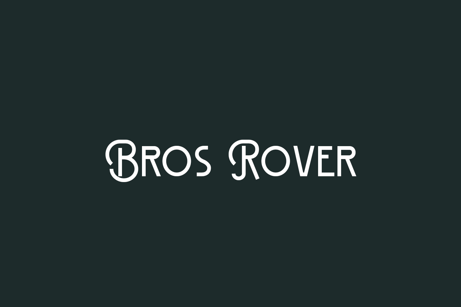 Bros Rover Free Font