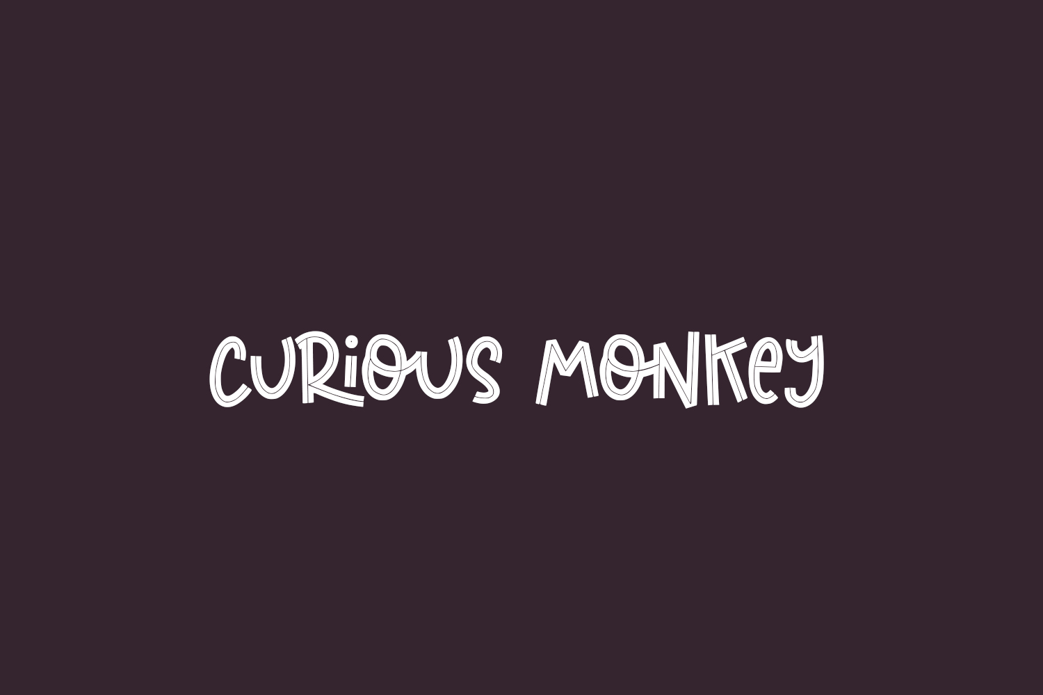 Curious Monkey Free Font