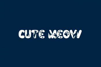 Cute Meow Free Font