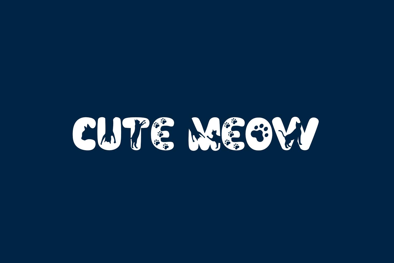 Cute Meow Free Font