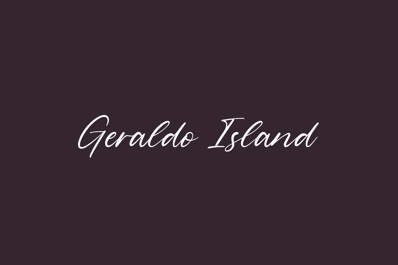 Geraldo Island Free Font