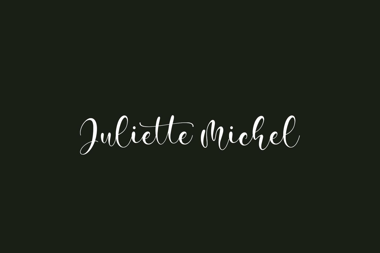 Juliette Michel Free Font