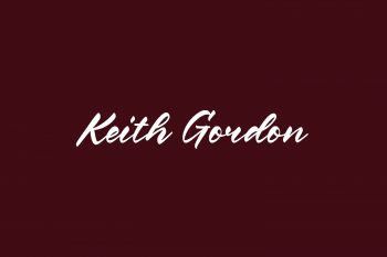 Keith Gordon Free Font