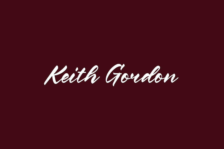 Keith Gordon Free Font