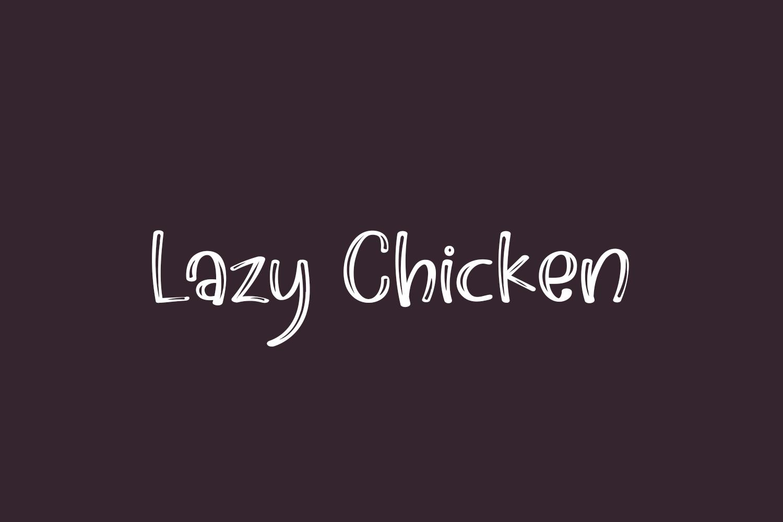 Lazy Chicken Free Font