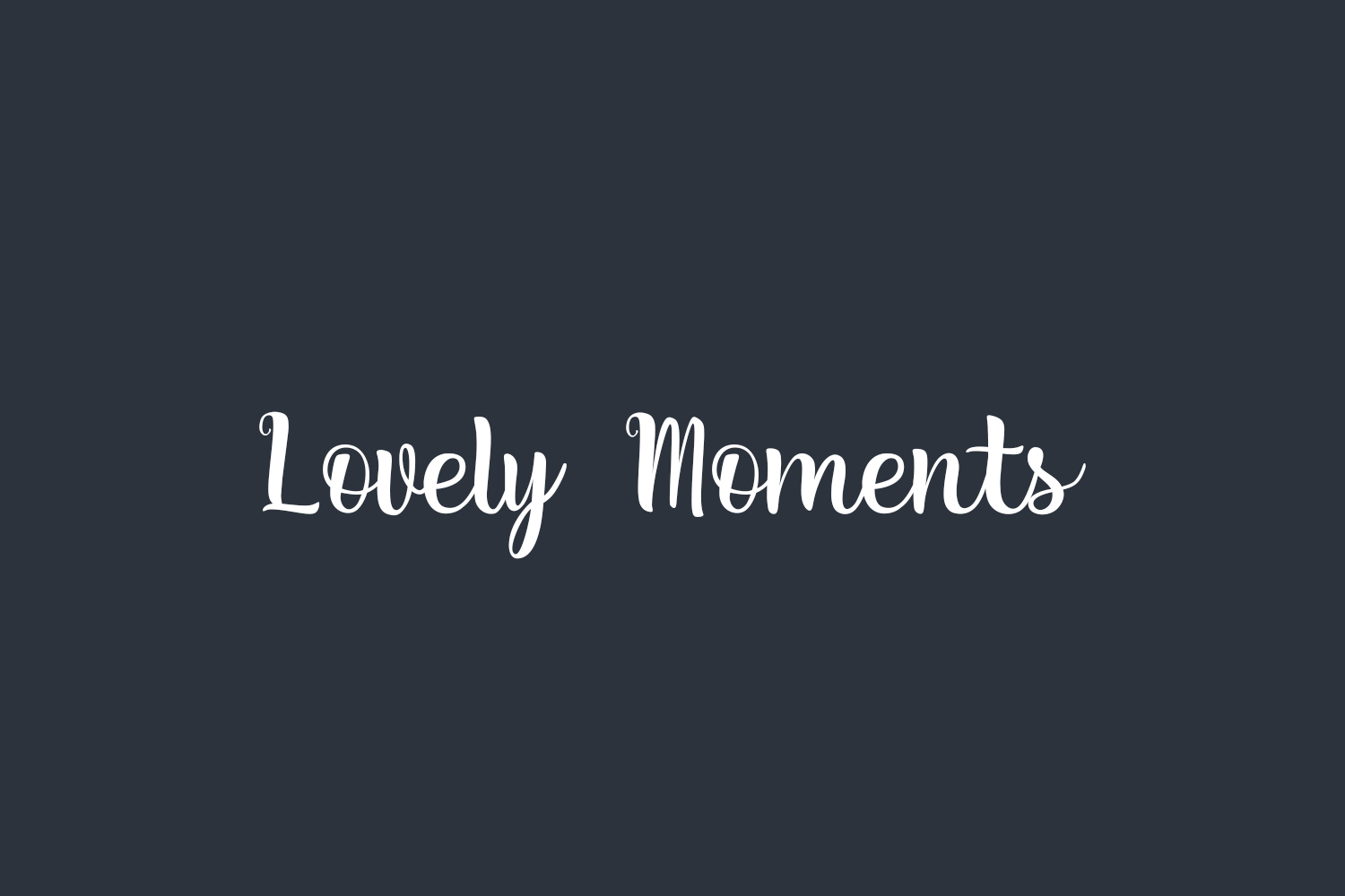 Lovely Moments Free Font