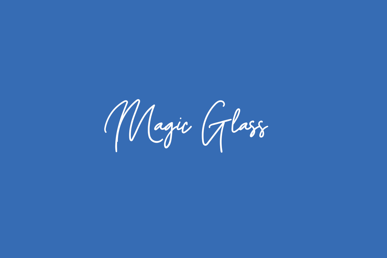 Magic Glass Free Font