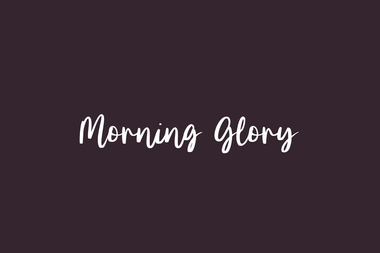 Morning Glory Free Font