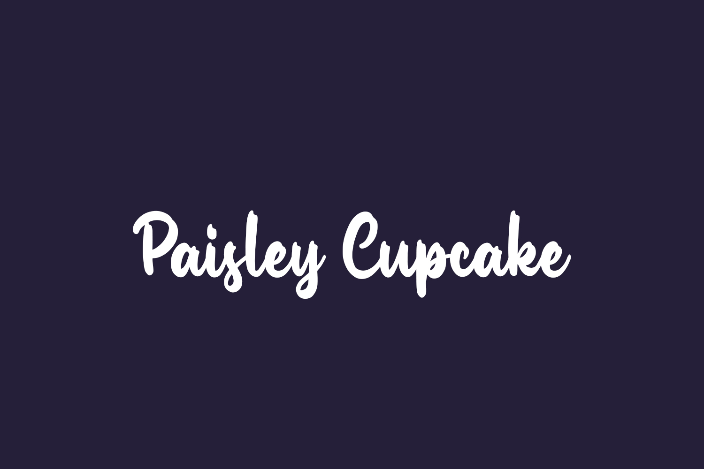 Paisley Cupcake Free Font