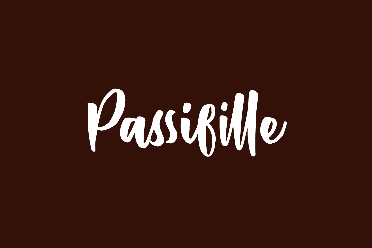Passifille Free Font