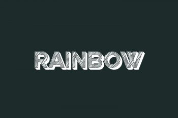 Rainbow Free Font