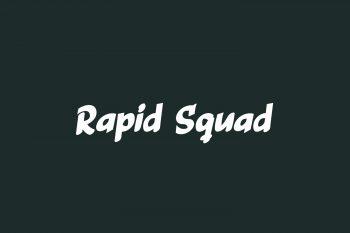 Rapid Squad Free Font