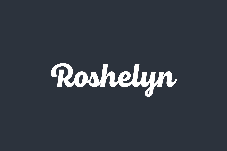 Roshelyn Free Font