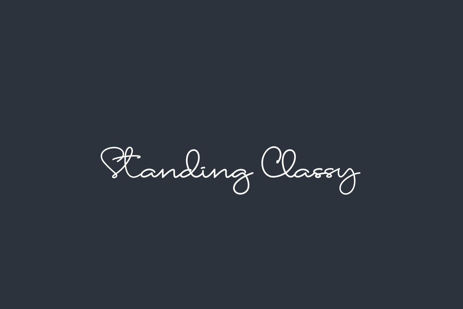 Standing Classy Free Font