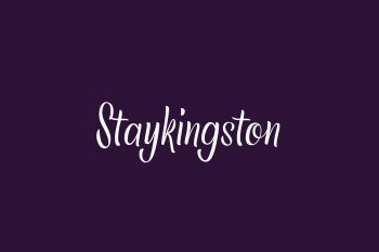 Staykingston Free Font