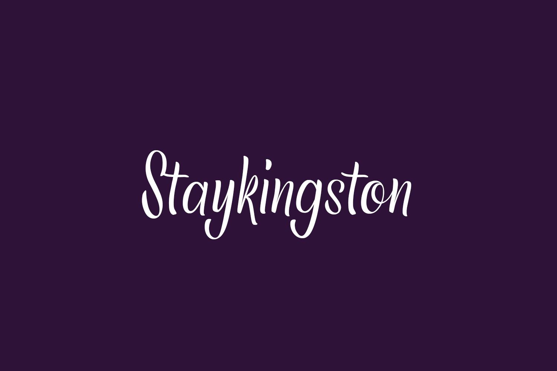 Staykingston Free Font