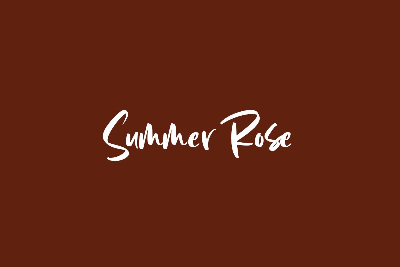 Summer Rose Free Font