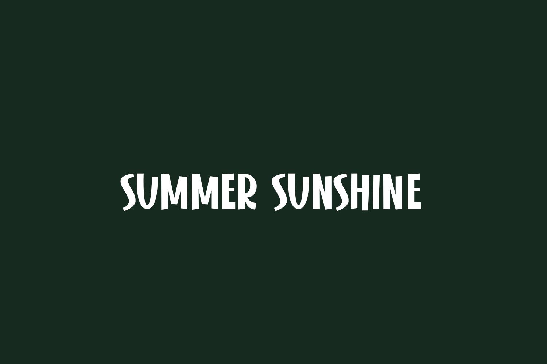 Summer Sunshine Free Font