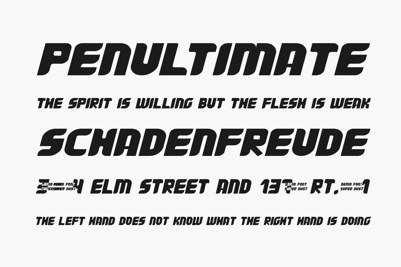 Super Dust Free Font