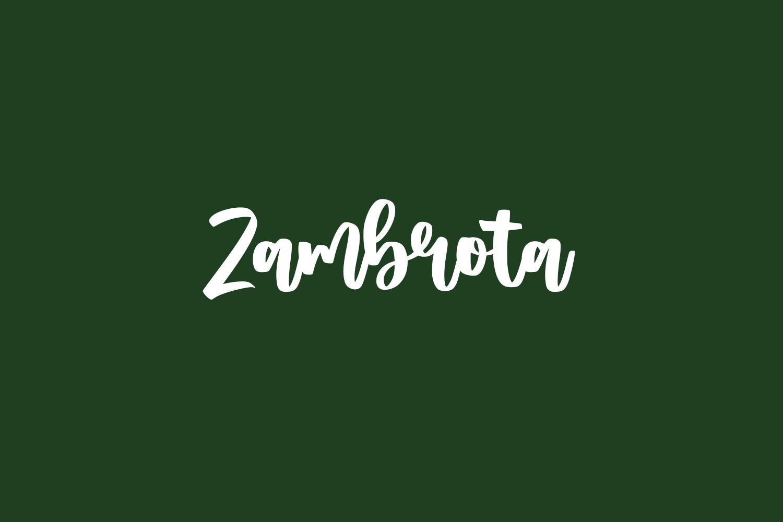Zambrota Free Font