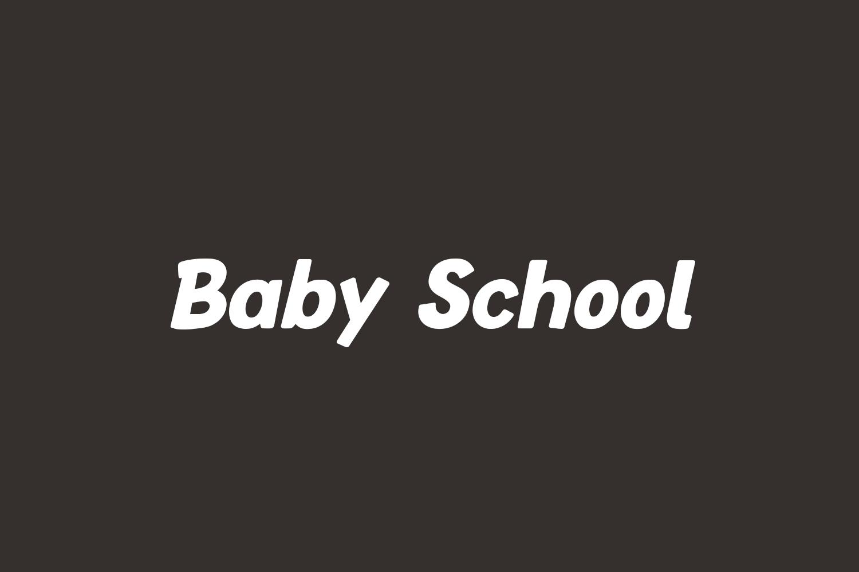 Baby School Free Font