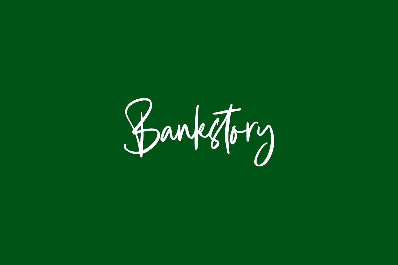 Bankstory Free Font
