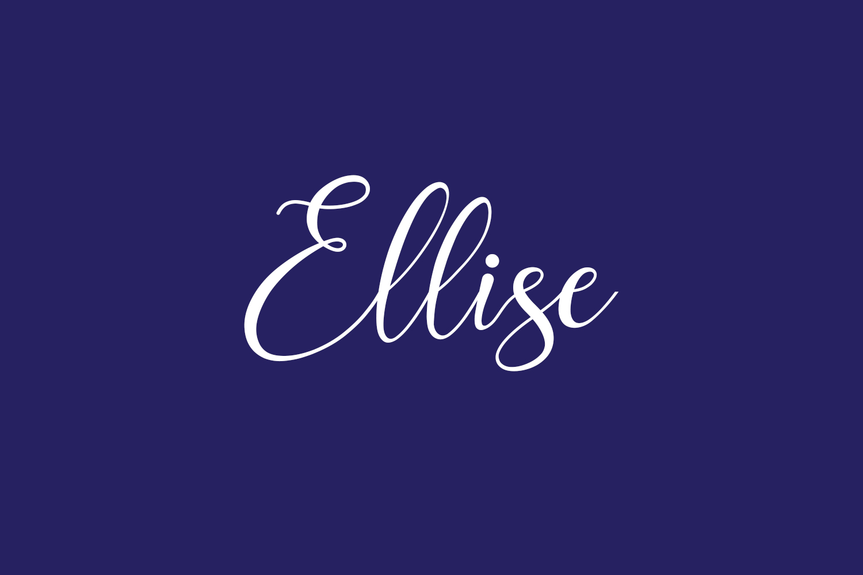 Ellise Free Font